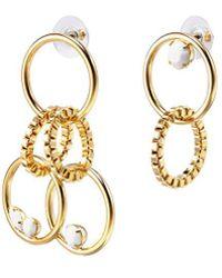 Joomi Lim - 'grandmistress Flash' Mismatched Swarovski Crystal Interlocking Hoop Drop Earrings - Lyst