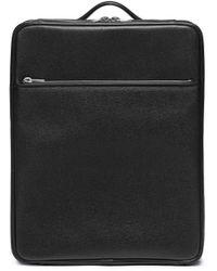 Valextra Leather Trolley – Black