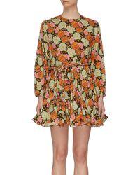 RHODE Ella Floral-print Cotton Mini Dress - Multicolor
