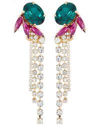 Anton Heunis Crystal Wings Tassel Earring - Multicolour