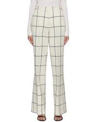 Gabriela Hearst 'leda' Windowpane Check Suiting Trousers - Multicolour