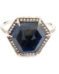 Monique Péan - 'atelier' Sapphire18k Recycled White Gold Ring - Lyst