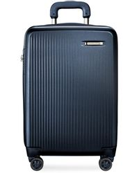 Briggs & Riley Sympatico Carry-on Expandable Spinner Suitcase – Matte Navy - Blue