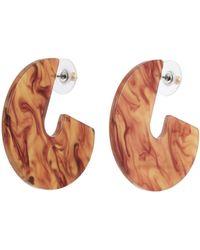 Kenneth Jay Lane - Cutout Geometric Drop Earrings - Lyst