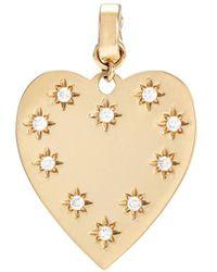 Loquet London - 'heart' Diamond 14k Yellow Gold Bracelet Charm – Small - Lyst