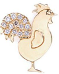 Loquet London   18k Yellow Gold Diamond Chinese New Year Charm - Rooster   Lyst