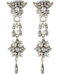 Erickson Beamon 'paper Cranes' Swarovski Crystal Drop Earrings - Metallic