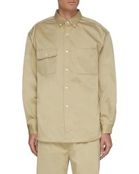 Nanamica Patch Pocket Cotton Blend Chino Shirt - Natural