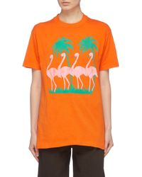 Elizabeth and James - 'pepper' Flamingo Print Oversized Vintage T-shirt - Lyst