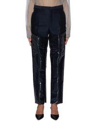 Toga Paneled Wool Lament Pants - Blue