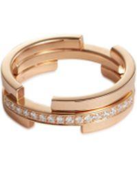 Dauphin 'volume' Diamond 18k Rose Gold Ring - Metallic