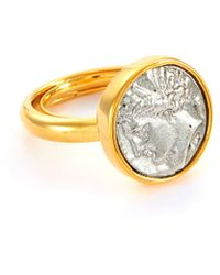 Kenneth Jay Lane Coin Cantered Ring - Metallic