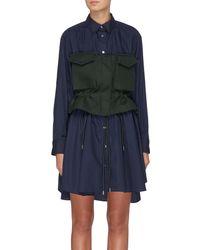 Sacai - Detachable Colourblock Bustier Shirt Dress - Lyst