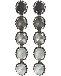 Elizabeth Cole - 'von' Glass Crystal Ombré Drop Earrings - Lyst