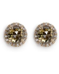 Monique Péan - 'atelier' Halo Diamond 18k Recycled Gold Stud Earrings - Lyst