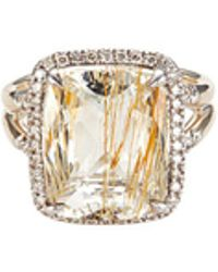 John Hardy - 'magic Cut' Diamond Rutilated Topaz Silver Ring - Lyst