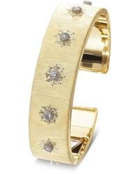 Buccellati 'macri' Diamond Yellow Gold Cuff - Metallic