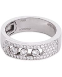 Messika - 'move Noa Pavé' Diamond 18k White Gold Ring - Lyst
