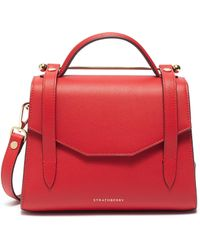 Strathberry Mini Allegro Leather Satchel - Red