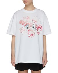 Angel Chen X Jiajia Wang Jewel Embellished Floral Graphic Print T-shirt - Multicolor