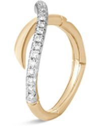 John Hardy 'bamboo' Diamond 18k Yellow Gold Ring - Metallic