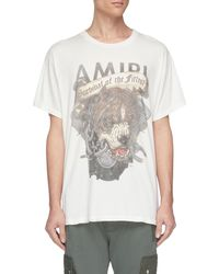 Amiri - Logo Slogan Dog Graphic Print T-shirt - Lyst