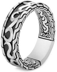 John Hardy 'classic Chain' Silver Band Ring - Metallic