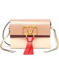 Valentino - 'vring' Tassel Colourblock Leather Crossbody Bag - Lyst