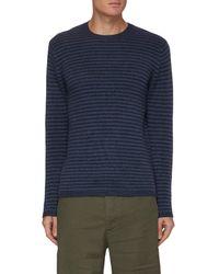 Vince Stripe Crewneck Sweater - Blue
