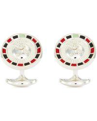 Deakin & Francis Roulette Wheel Cufflinks - Metallic