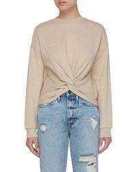 FRAME Front Twist Detail Cotton Sweatshirt - Multicolour