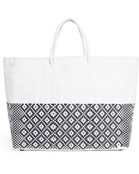Truss - Large Half Dipped Geometric Woven Pvc Tote - Lyst