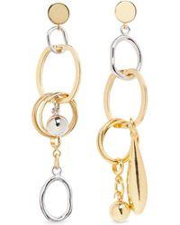 Assad Mounser - Detachable Charm Drop Mismatched Earrings - Lyst