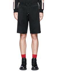 Gucci Logo Jacquard Outseam Sweat Shorts - Black