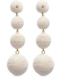 Kenneth Jay Lane - 'carnival' Threaded Sphere Drop Clip Earrings - Lyst
