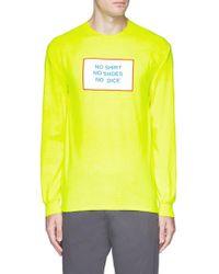 Nine One Seven - 'all American Burger' Print Long Sleeve T-shirt - Lyst