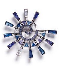 Eddie Borgo 'europa' Cubic Zirconia Pin Brooch - Blue
