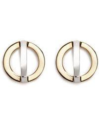 W. Britt - 'cross Circle' 18k Gold Stud Earrings - Lyst