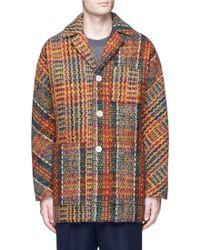 Acne Studios Multicolour Tweed Min Coat
