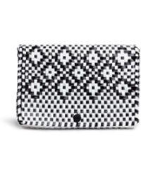 Truss - Diamond Pattern Woven Pvc Pouch - Lyst