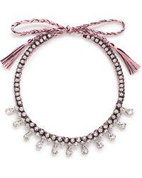 Venessa Arizaga - 'eiko' Rhinestone Necklace - Lyst