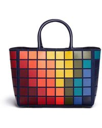 Anya Hindmarch Anya 5050925924641 Sml Tote Ebury Giant Pixels Suede - Multicolour