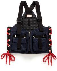 NO KA 'OI '' Gummed Yoga Backpack - Blue