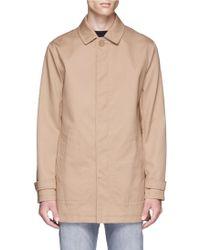 TOPMAN Teflon® Twill Mackintosh Coat - Brown