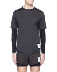 Satisfy 'light Justice' Slogan Print Running Long Sleeve T-shirt - Black