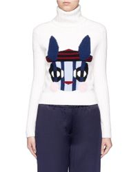 Helen Lee - Bad Bunny' Intarsia Turtleneck Sweater - Lyst