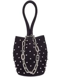 Alexander Wang - 'roxy' Mini Stud Suede Chain Bucket Bag - Lyst