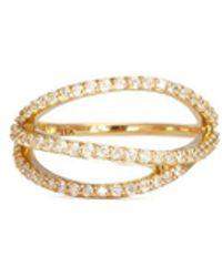 Phyne By Paige Novick | Lily' 18k Gold Diamond Pavé Curved Line Ring | Lyst
