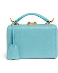 Mark Cross 'grace Mini Box' Interchangeable Strap Leather Trunk - Blue