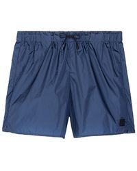 Acne Studios 'perry' Face Patch Swim Shorts - Blue